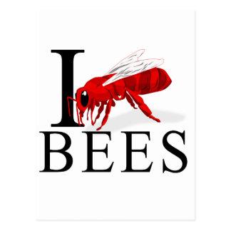 I Love Bees Postcard
