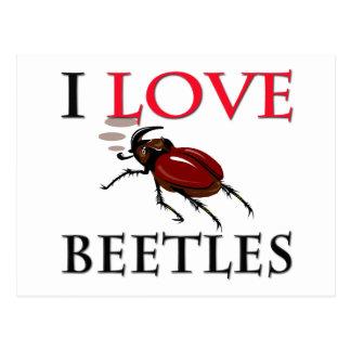 I Love Beetles Postcard