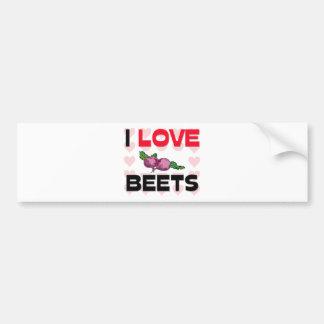 I Love Beets Car Bumper Sticker