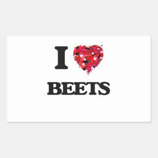 I Love Beets Rectangular Sticker