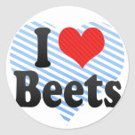 I Love Beets Stickers