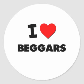 I Love Beggars Stickers