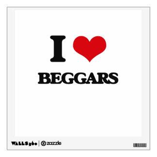I Love Beggars Wall Decal