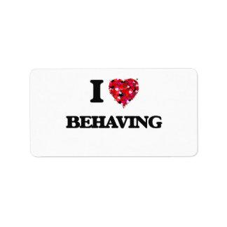 I Love Behaving Address Label