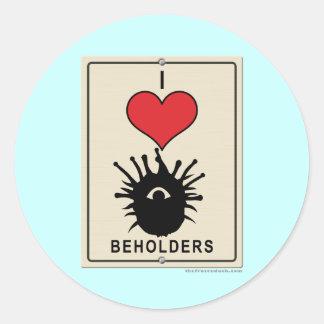 I Love Beholders Classic Round Sticker