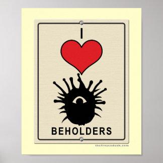 I Love Beholders Print