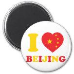 I Love Beijing 2 Inch Round Magnet