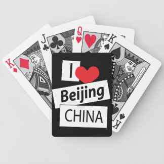 I Love Beijing China Bicycle Playing Cards