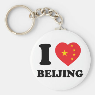 I Love Beijing Keychain