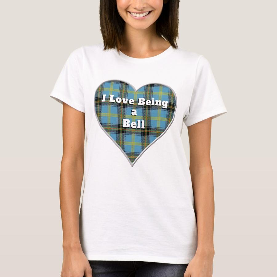 I Love Being a Bell Clan Tartan Plaid Heart T-Shirt - Best Selling Long-Sleeve Street Fashion Shirt Designs