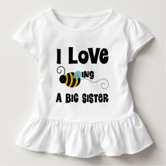 I Love Being A Big Sister Ruffle T-shirt