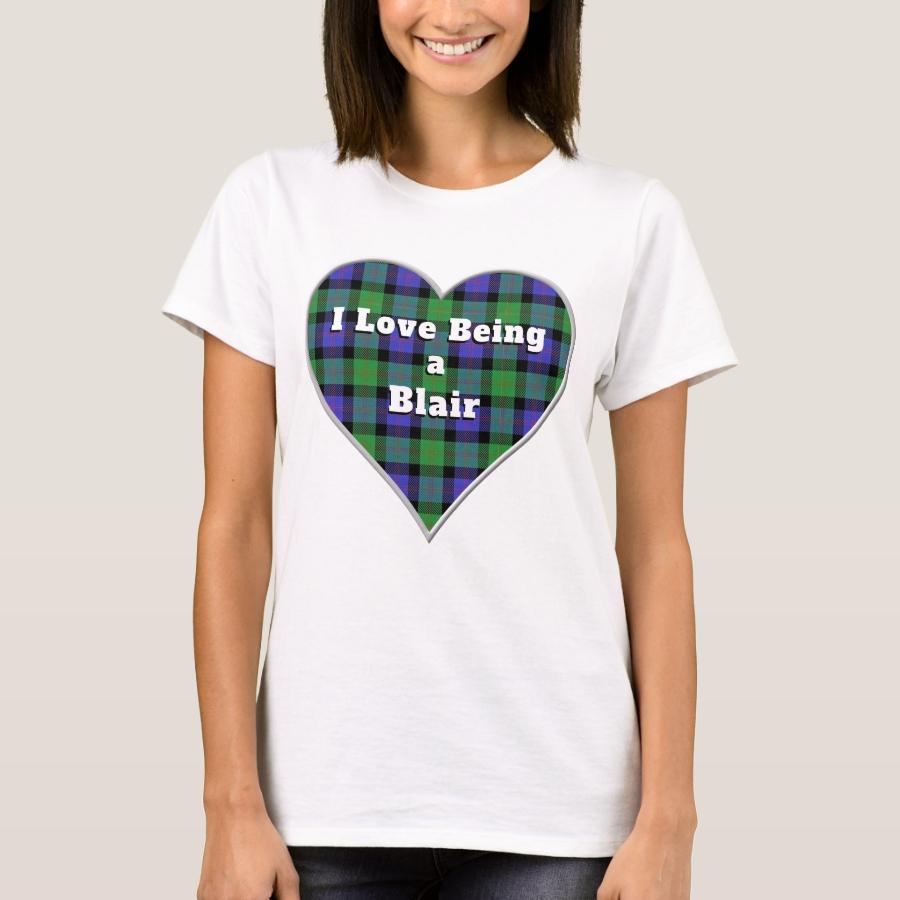 I Love Being a Blair Clan Tartan Plaid Heart T-Shirt - Best Selling Long-Sleeve Street Fashion Shirt Designs