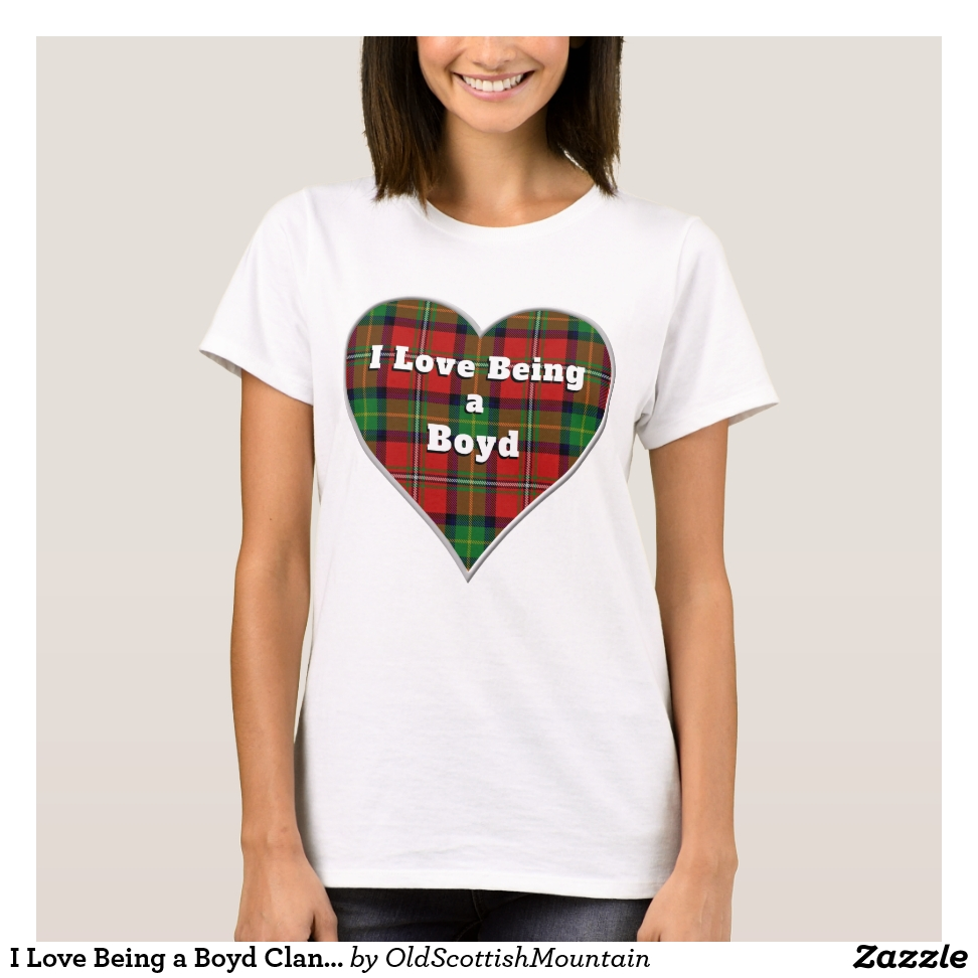 I Love Being a Boyd Clan Tartan Plaid Heart T-Shirt - Best Selling Long-Sleeve Street Fashion Shirt Designs