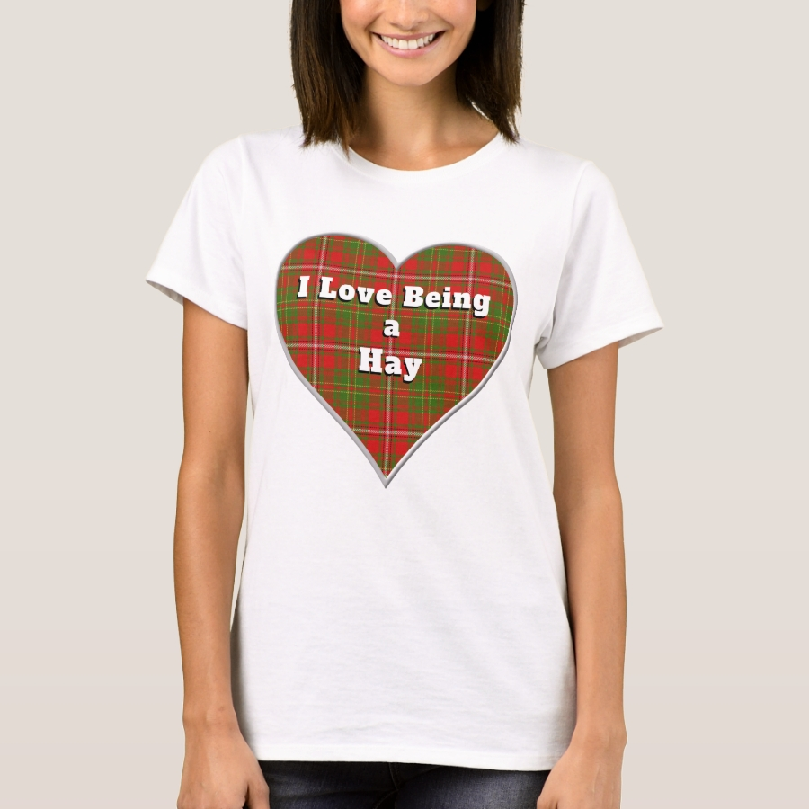 I Love Being a Hay Clan Tartan Plaid Heart T-Shirt - Best Selling Long-Sleeve Street Fashion Shirt Designs