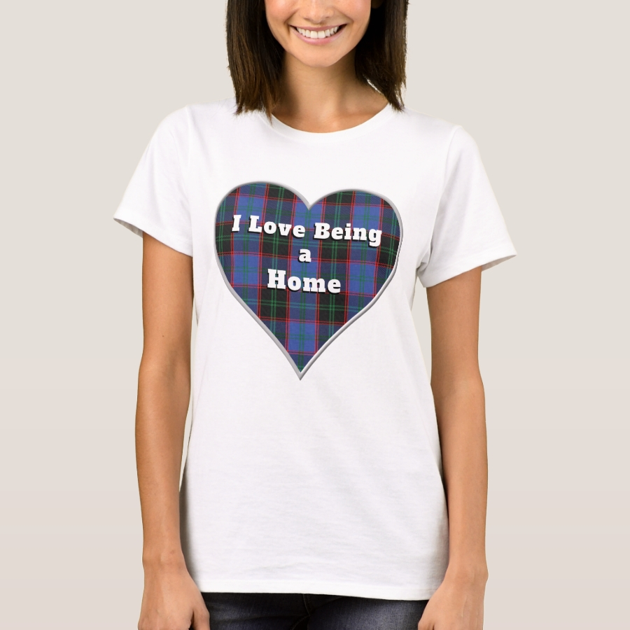 I Love Being a Home Hume Clan Tartan Plaid Heart T-Shirt - Best Selling Long-Sleeve Street Fashion Shirt Designs