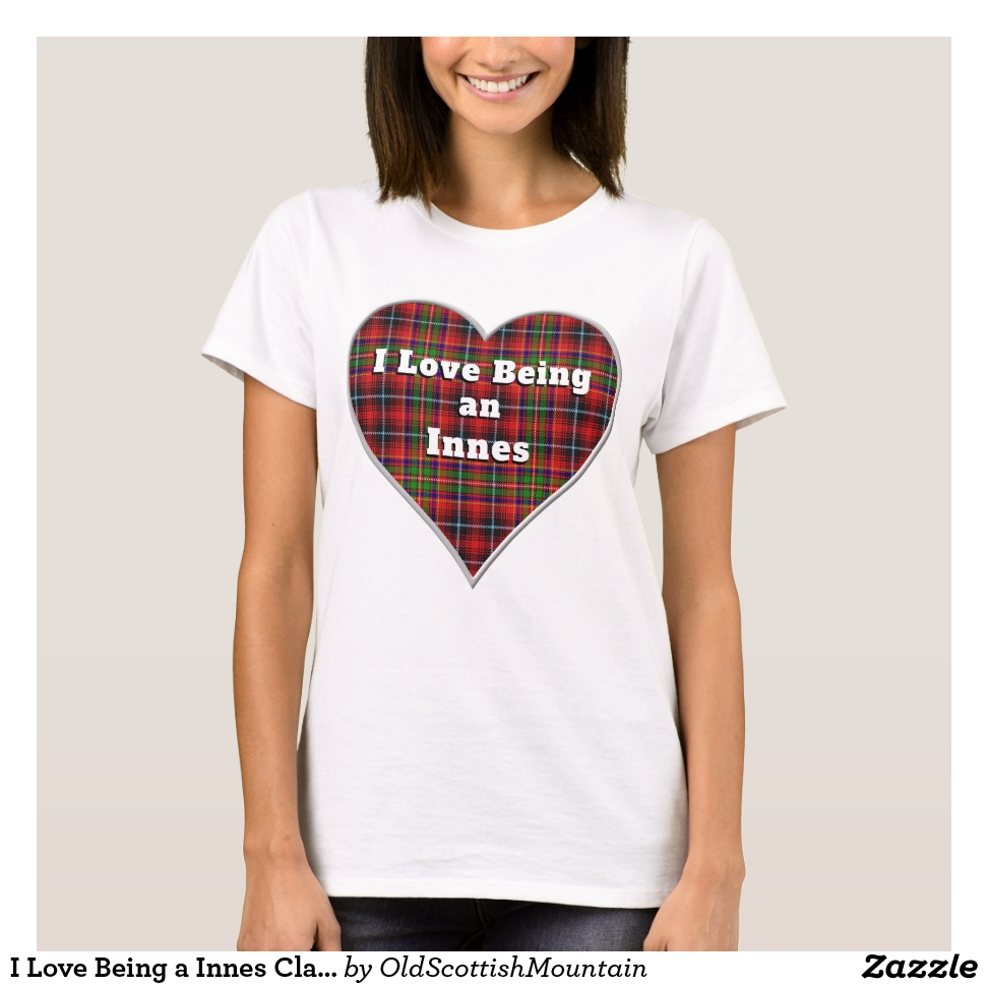 I Love Being a Innes Clan Tartan Heart T-Shirt - Best Selling Long-Sleeve Street Fashion Shirt Designs