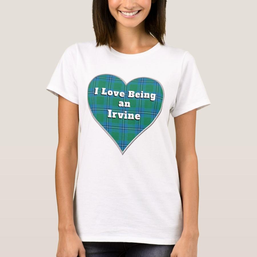 I Love Being a Irvine Irwin Clan Tartan Heart T-Shirt - Best Selling Long-Sleeve Street Fashion Shirt Designs