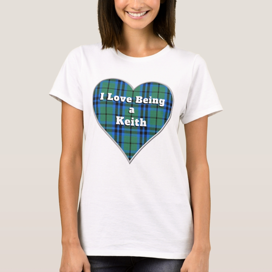 I Love Being a Keith Clan Tartan Plaid Heart T-Shirt - Best Selling Long-Sleeve Street Fashion Shirt Designs