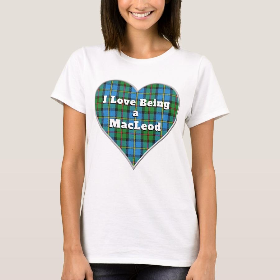 I Love Being a MacLeod Harris Clan Tartan Heart T-Shirt - Best Selling Long-Sleeve Street Fashion Shirt Designs