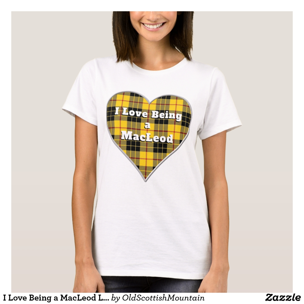 I Love Being a MacLeod Lewis Clan Tartan Heart T-Shirt - Best Selling Long-Sleeve Street Fashion Shirt Designs