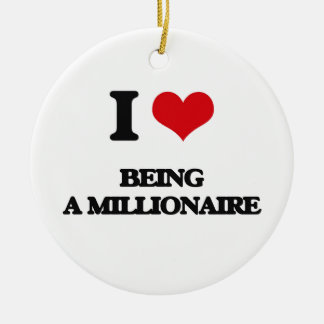 I Love Being A Millionaire Christmas Tree Ornaments