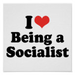 I LOVE BEING A SOCIALIST - .png Print