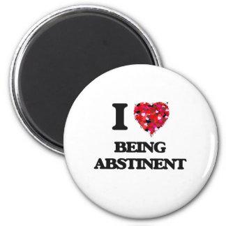 I Love Being Abstinent 2 Inch Round Magnet