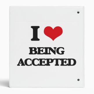 I Love Being Accepted Vinyl Binder