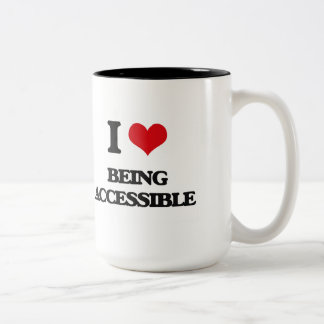I Love Being Accessible Two-Tone Coffee Mug