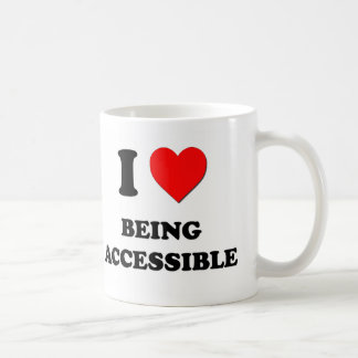 I Love Being Accessible Classic White Coffee Mug