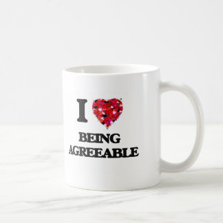 I Love Being Agreeable Classic White Coffee Mug