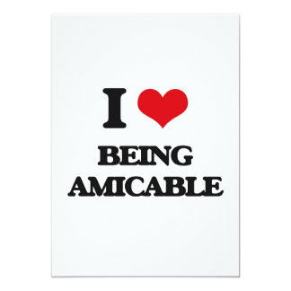 "I Love Being Amicable 5"" X 7"" Invitation Card"