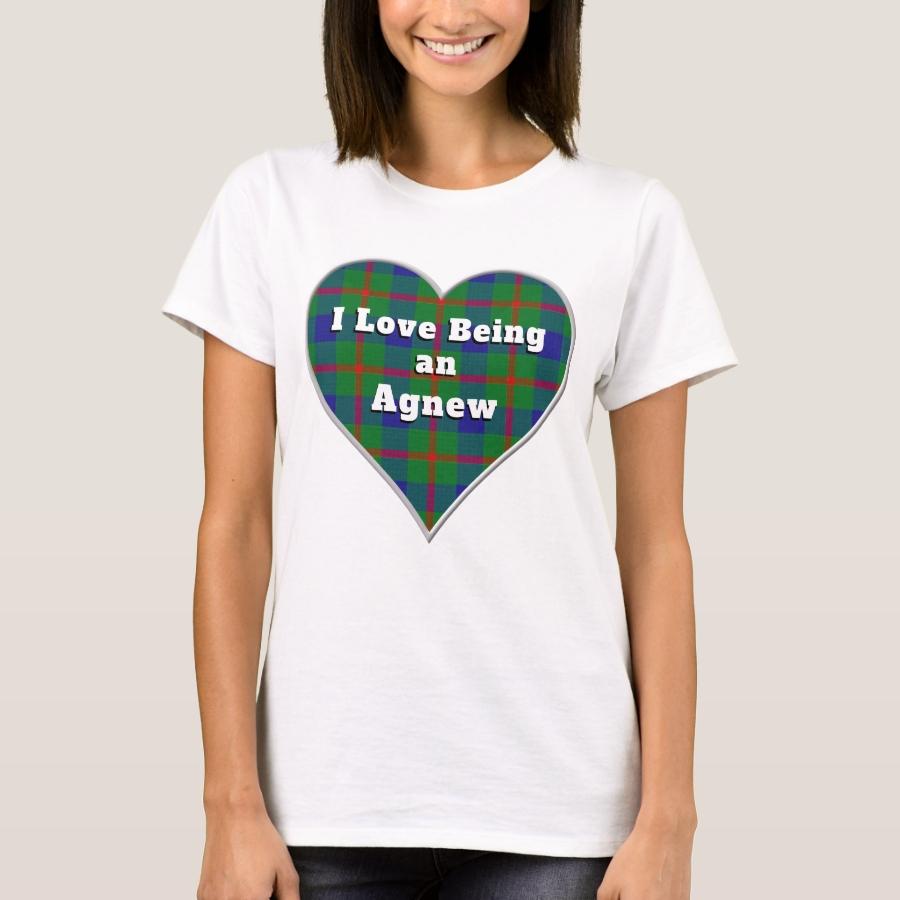 I Love Being an Agnew Clan Tartan Plaid Heart T-Shirt - Best Selling Long-Sleeve Street Fashion Shirt Designs