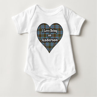 I Love Being an Anderson Clan Tartan Baby Bodysuit