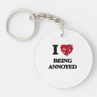 I Love Being Annoyed Single-Sided Round Acrylic Keychain