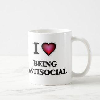 I Love Being Antisocial Coffee Mug