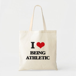 I Love Being Athletic Canvas Bags