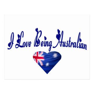 I Love Being Australian Postcard