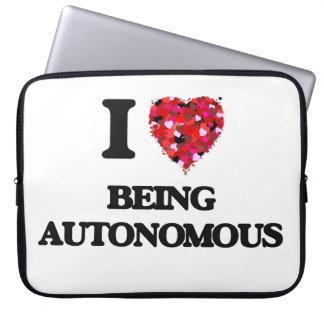 I Love Being Autonomous Laptop Sleeve