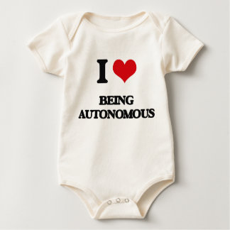 I Love Being Autonomous Baby Bodysuits