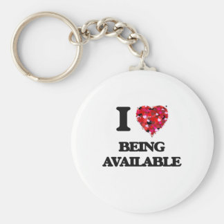 I Love Being Available Basic Round Button Keychain