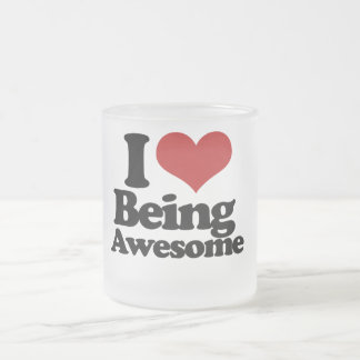 I Love Being Awesome Frosted Glass Coffee Mug