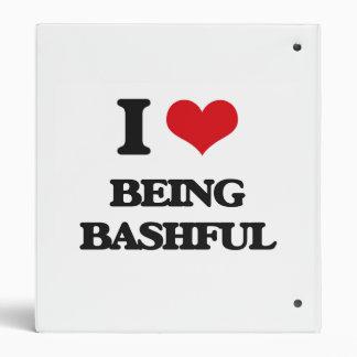 I Love Being Bashful 3 Ring Binder