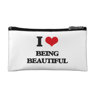 I Love Being Beautiful Cosmetics Bags