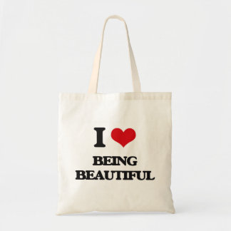 I Love Being Beautiful Tote Bags