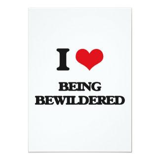 "I Love Being Bewildered 5"" X 7"" Invitation Card"