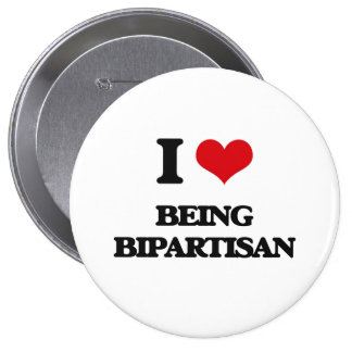I Love Being Bipartisan Buttons