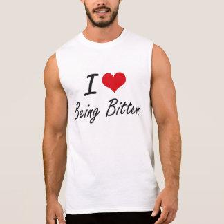 I Love Being Bitten Artistic Design Sleeveless T-shirt