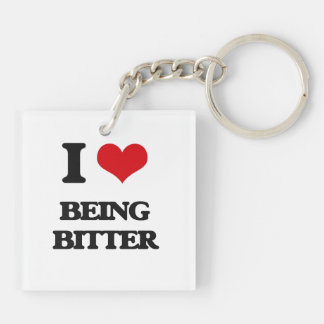 I Love Being Bitter Double-Sided Square Acrylic Keychain