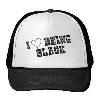 I love being Black Trucker Hat